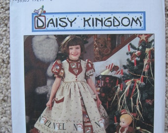 """UNCUT Childs Dress and Pinafore and Doll Dress for 17"""" Doll - Simplicity Sewing Pattern 7281"""