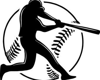 Baseball Logo #22 Player Tournament Ball Bat League Equipment School Team Game Field Sport Logo.SVG .EPS .PNG Vector Cricut Cut Cutting File