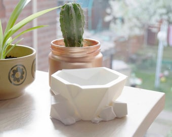 3D Printed Geometric-Rockery Planter