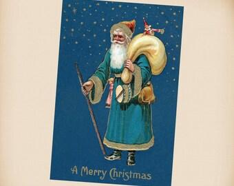 Victorian Santa New 4x6 Vintage Postcard Image Photo Print SC20