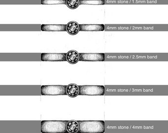 PDF wedding and solitaire engagement ring templates & ring sizer. Cut out and try on to find your ideal stone and band size.