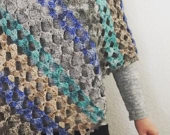 Crochet Poncho Pattern:  Wide Open Spaces