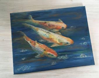 Fish trio painting