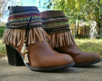 Bohemian gypsy boot covers