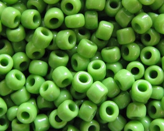 6/0 Seed Beads, Opaque Lime Green,  Seed Beads,  20 grams Seed Beads, Lime Green  Seed Beads,Opaque,# 5212 Japanese Seed Beads Item #441