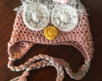 Crochet baby owl hat, baby owl crochet hat, owl crochet hat, owl crochet baby hat, kids crochet owl hat, newborn crochet owl hat