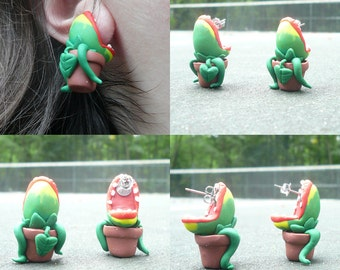 Audrey 2 Earrings Little Shop of Horrors