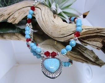 Southwest necklace, Southwest jewelry, Native American, Aztec jewelry, Boho style, Trendy necklace, Handmade necklace