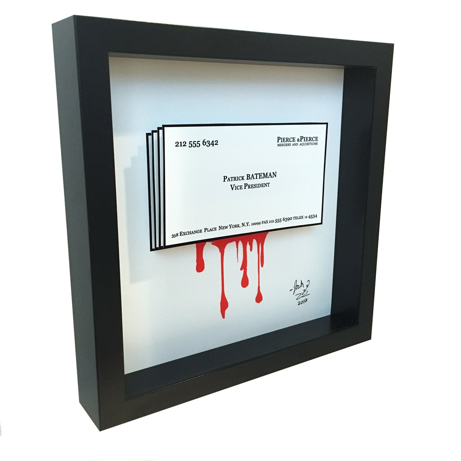 American Psycho Patrick Bateman Business Card 3D Art Pop Art