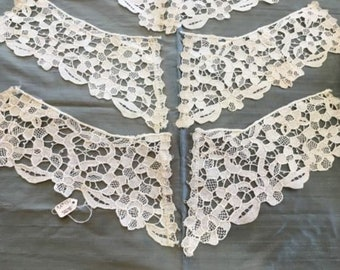 40+ Pairs of Hand Made Needle Lace Collars, Early 1900's. Cotton