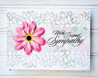 SYMPATHY Greeting Card - Unique Handmade With Sympathy Card / Blank Greeting Cards / One-of-a-Kind Cards / Cards for Her