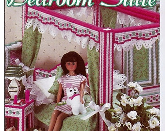 Fashion Doll Bedroom Suite:  Plastic Canvas Pattern from House of White Birches