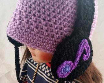 Handmade Crocheted Headphone Toddler Hat