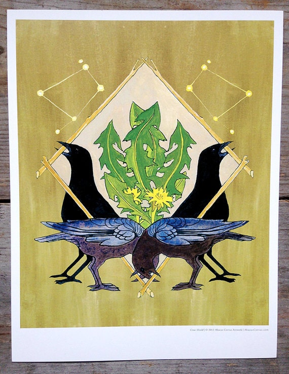 Crow Shield Print Abacus Corvus