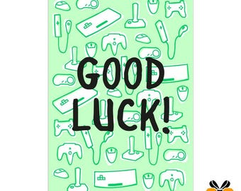 Good Luck! - A5 Greeting Card