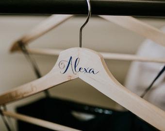 Personalized Wedding Hanger set of 8+ FREE Bride