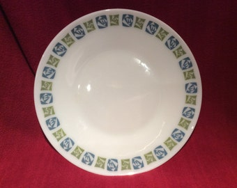 "Pyrex JAJ Checkers 10"" Dinner Plate circa 1960"