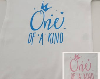 """One Of A Kind"""" First Birthday Vest, Baby Grow Girl Boy Body Suit Cake Smash 1st Birthday. Romper"""