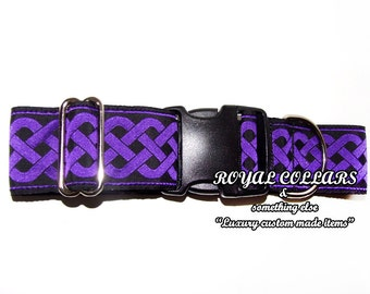 Celtic Adjustable Collar, 2 Inch Adjustable Collar, Celtic Dog Collar, Jacquard Dog Collar, Celtic Knot