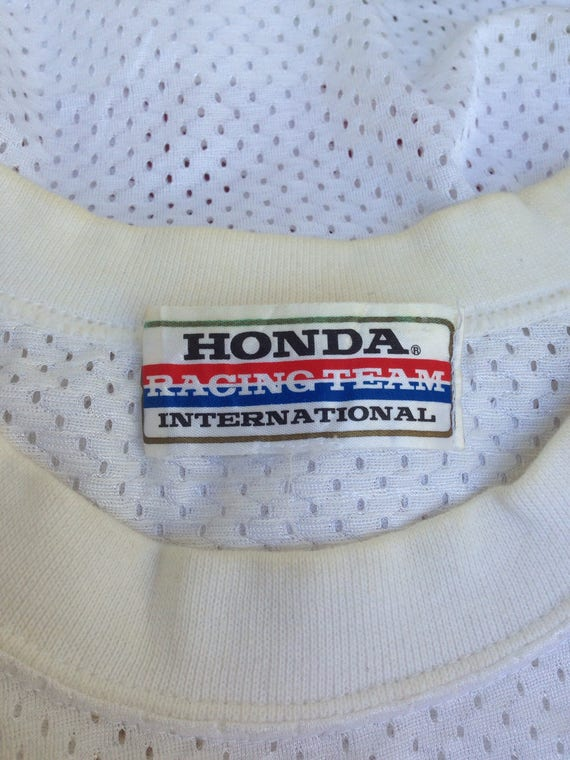 Sleeve Honda 80s Long Made Japan Vintage Motocross Team In Colourful Racing Honda dXqcpI
