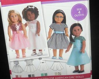 items similar to simplicity d0537 pretty diy american girl pajamas
