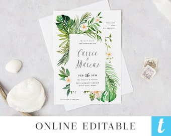 best selling items favorite favorited add to added tropical beach wedding invitation template