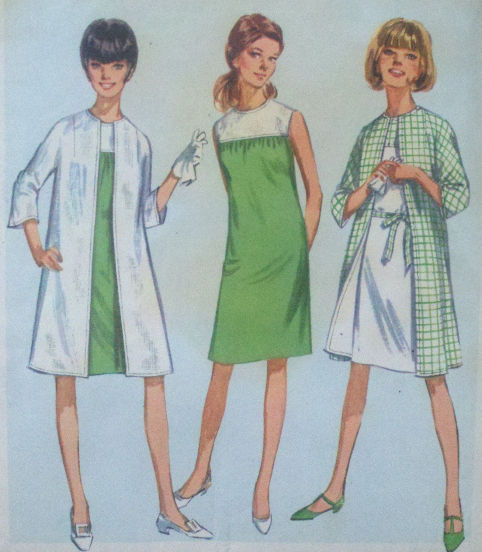 Einfachheit-Frack & gerade Sack Kleid 1960er Jahre