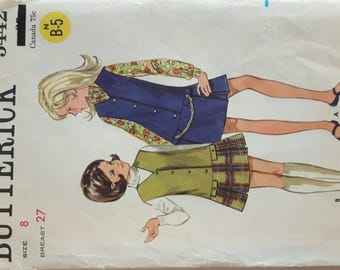 Vintage Sewing Pattern for a Girls Jumper