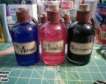 Handmade superb Health, Mana, and Rejuvenation potion