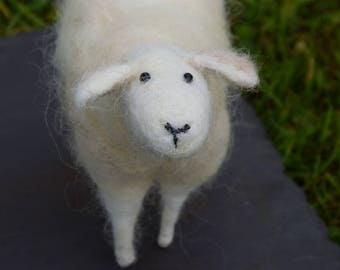 A Hand-felted Woolly Sheep