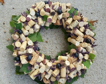 Grape Wine Cork Wreath 12-14""