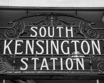 South Kensington Photograph - London Photography - Black and White Print
