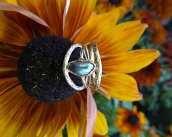Wild Paua Abalone Pearl Ring