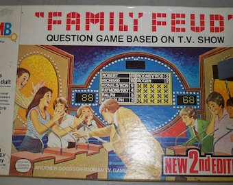 Vintage 1978 Milton Bradley Second Edition Family Feud Game