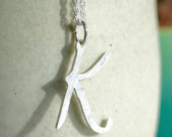 Large personalised initial pendant