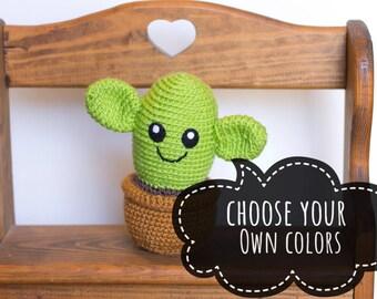 Cactus Plush - Choose Your Colors - Cactus Pincushion - Succulent Plush - Cactus Stuffed Toy