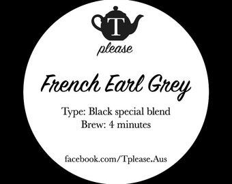 French Earl Grey loose leaf tea