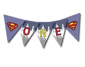 ONE-First Birthday Banner Digital File