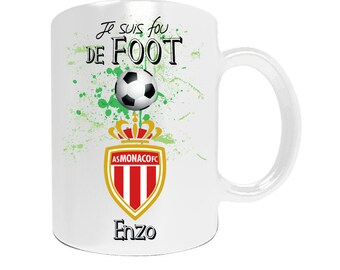 Personalized mug AS Monaco football league1 with your name