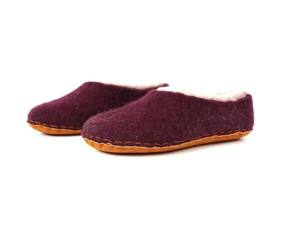 natural Wool felted wool slippers wool unisex felt wool felted slippers slippers shoe women felt felt men slipper clogs clogs XwrHx8wn