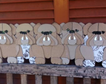 Gift idea: Bulldog hand Panel for Wall