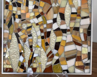 """Glass mosaic """"Gold Leaves"""""""