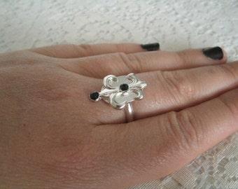 Goddess Iris Ring, wiccan jewelry pagan jewelry wicca jewelry goddess jewelry witch witchcraft metaphysical magic handfasting wiccan ring