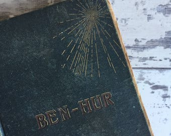 Antique Book - Ben Hur - 1800s As is