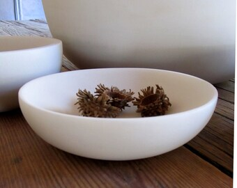 Handmade Marble Bowl - Shallow Small