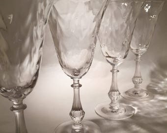 4 Crystal Wine Glass