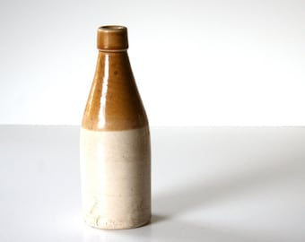 antique stoneware crock bottle by J. Macintyre  and Co. 1 / English barware / Blob Mouth Bottle / Beer Lovers Stoneware / Collectable
