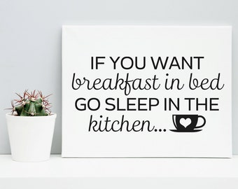 Kitchen Wall Art Printable Poster - Kitchen Wall Decor - Typography, Print, Black and White, Wall Art, Poster Print, Kitchen Decor