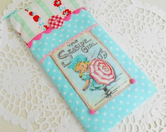 RESERVED LISTING Cute Retro Inspired Summery Eyeglass Case/Gadget case