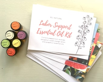 Labor Support Essential Oil Kit .. Natural Birth .. Oily Mama